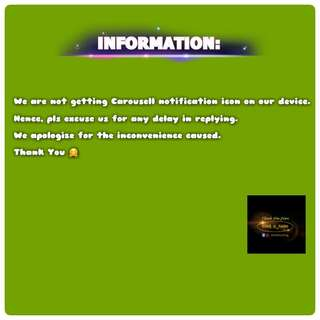 Information to customers