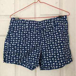 Blue and white patterned shorts - Ann Taylor