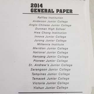 General Paper Exam Papers (11 sets)