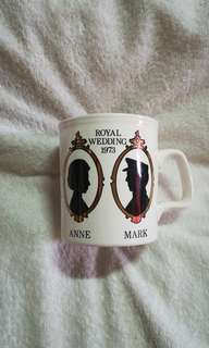 Vintage H.R.H. Princess Anne & Mark Phillips Mug