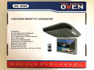 9 Inch Roof Mount TFT LED Monitor