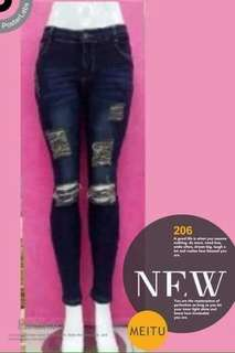 Ladies' Ripped Jeans