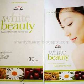 SUPPLEMENT PEMUTIH NUTRAFOR WHITE BEAUTY