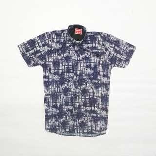 Navy Blue Patern Shirt