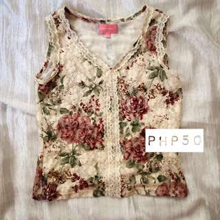 Floral Top (Sleeveless)