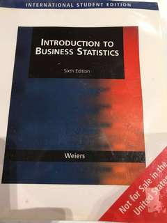 Introduction to Business Statistics by Ronald M. Weiers (with CD)