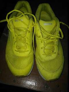 sepatu GOLFER size 43 kuning cing cang nyak babeh