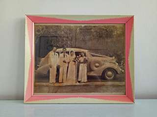 Vintage Old Photo With Frame Size 27x23cm perfect condition