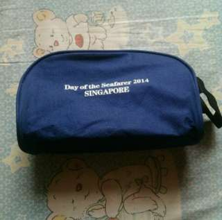 Pouch navy blue