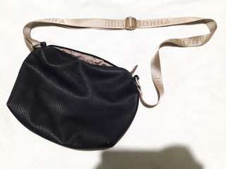 Belladona Black Leather Sling Bag