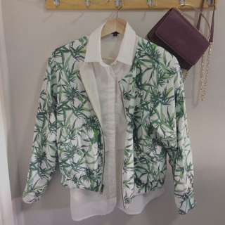 *SALE* EMODA Greenery Fern Print Jacket (Reversible) Size M (Japan)