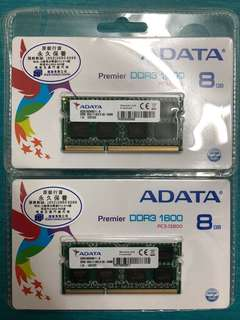 ADATA DDR3 1600 8gb RAM (2 set)