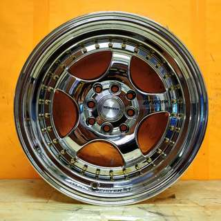 15inch SPORT RIM WORKMEISTER S1 SUPER CHROME