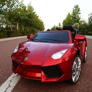 Red Lamborghini Rechargeable Toy Car Ride On Car