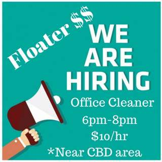 Evening Floaters (6-8pm) Daily pay