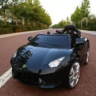 Black Lamborghini Rechargeable Toy Car Ride On Car