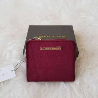 CnK Mini Wallet Burgundy Maroon