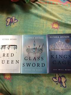 Red Queen series (signed) by Victoria Aveyard