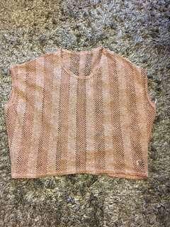 Crochet oversize top