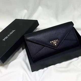 Prada Envelope Leather Purse