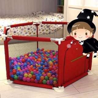 Red Playpen Playground for Baby