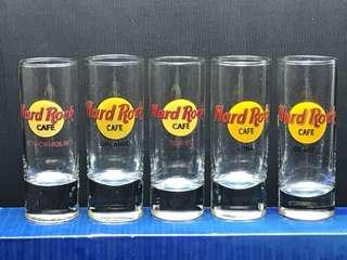 Hard Rock Cafe Shot Glass / Stockholm, Orlando, Tokyo, Kona, Dubai