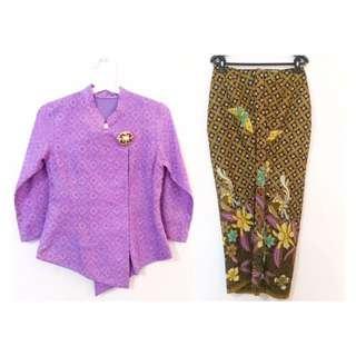 Set kebaya ungu & kain wiron