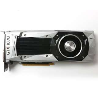 NVIDIA - GeForce GTX 1070 Founders Edition 8GB GDDR5 PCI Express 3.0 Graphics Card