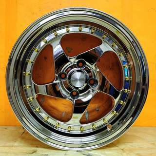 15inch SPORT RIM ROTIFORM SUPER CHROME RACING WHEELS