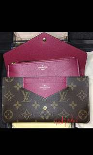 Louis Vuitton Jeanne Wallet - Fuchsia