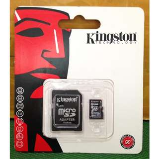 Micro SD 64GB Kingston Memory Card + Adaptor