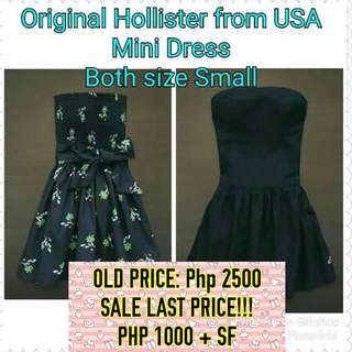 BN w/tag Auth Hollister Tube mini dress 1000 EACH ONLY