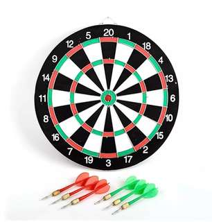 Double Sides Dartboard Dart Board with 6 Darts
