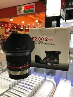 Samyang 12mm F2 Lens (Fuji X Mount)