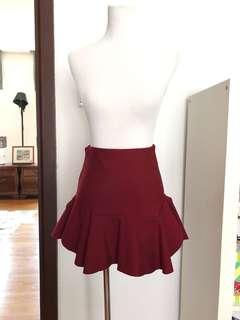 High Waisted Fluted Skirt