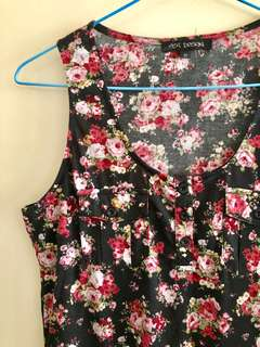 Floral maxi dress sz10
