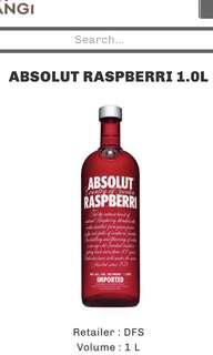 ABSOLUT RASPBERRI 1 L