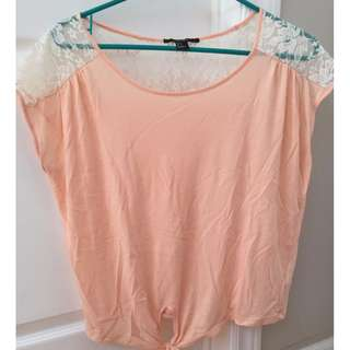 Light pink laced shirt (size small) from Forever 21
