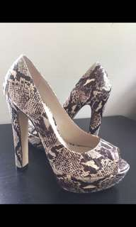 Tony bianco mercy Peru snake heels
