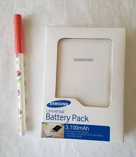 #carouramen Authentic Samsung Universal Battery pack powerbank 3100mAh