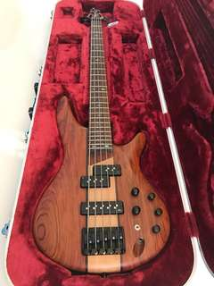 Ibanez SR 755 NTF electric Bass with Hardcase