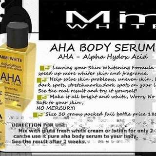 MIMI WHITE AHA BODY SERUM