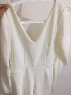Dress polos putih