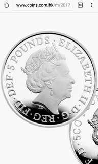 限量版英女皇藍寳石禧精裝紀念銀幣