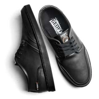 Authentic Leather All Black