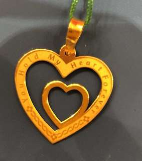 Gold 916 - Double Heart Locket ❤️❤️