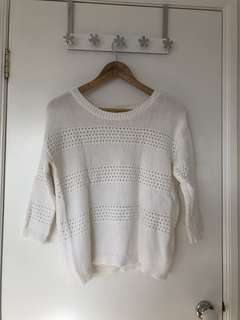 Gap White Knit Sweater (S)