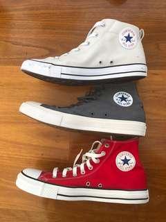 3x Chuck Taylor All Star Converses
