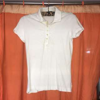 Authentic Giordano White Polo shirt