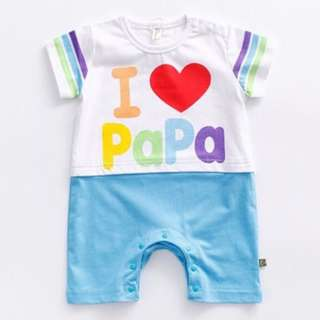 I LOVE PAPA Jumpsuit for Baby Toddler Girl/ Boy (0-24 months) CS012PB